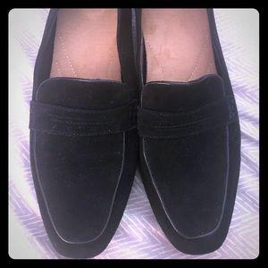 Clark's black loafers
